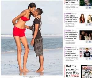 A cara metade de Elisany, Francinaldo da Silva Carvalho, de 22 anos, tem apenas 1,62 m de altura e tem que se esticar todo para beijar a namorada.